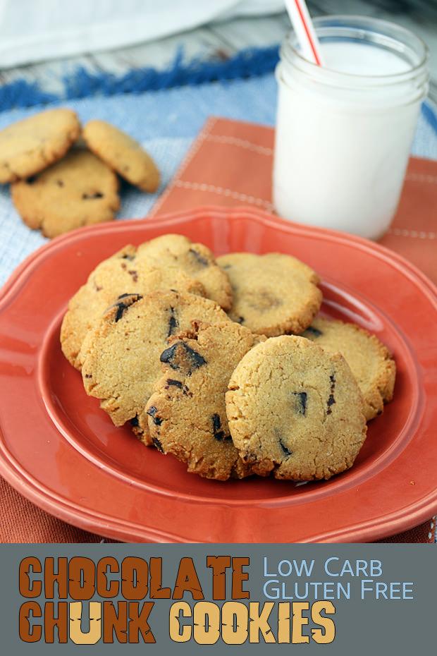 Keto Chocolate Chunk Cookies | Shared via www.ruled.me