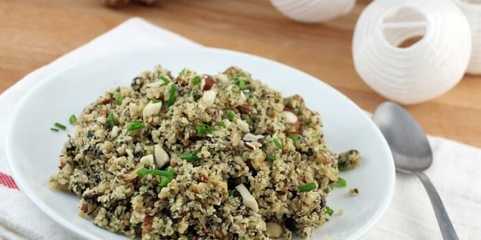 Keto Mushroom Wild Rice Pilaf