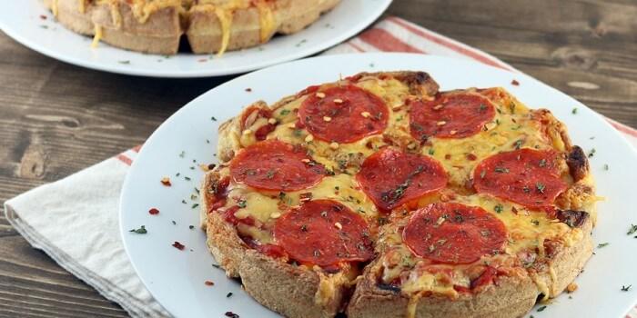 Breakfast Keto Pizza Waffles